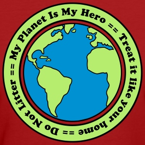 My Planet is my Hero T-shirts - Ekologisk T-shirt dam