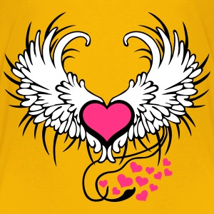 Angel Wings Heart T-shirts - Premium-T-shirt barn