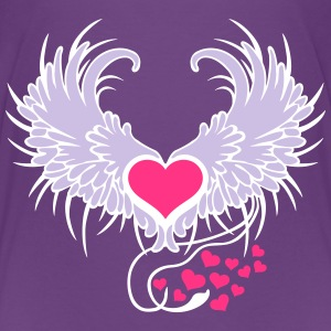 Angel Wings Heart Skjorter - Premium T-skjorte for barn