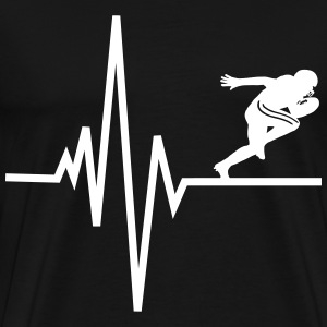 Heart beats for Football T-Shirts - Männer Premium T-Shirt