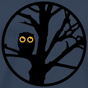 An owl sitting on a tree  T-Shirts - Men's Premium T-Shirt