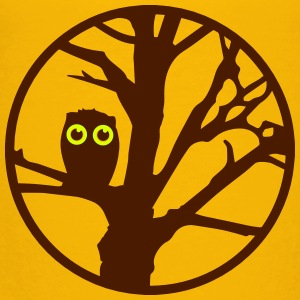 An owl sitting on a tree  Shirts - Kids' Premium T-Shirt