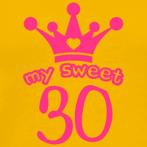 My sweet 30 birthday Crown funny T-Shirts - Men's Premium T-Shirt