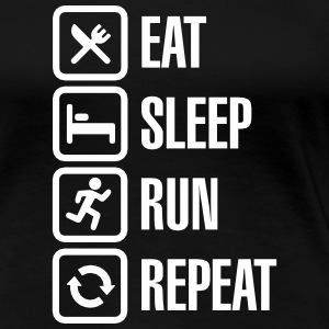 Eat sleep run repeat Camisetas - Camiseta premium mujer