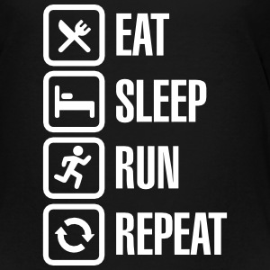 Eat sleep run repeat Camisetas - Camiseta premium niño