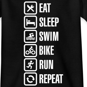 Eat sleep swim bike run repeat - triathlon Shirts - Teenage T-shirt