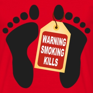 warning smoking kills Tee shirts - T-shirt Homme