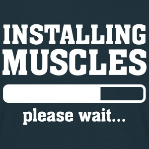 Installing Muscles (Loading) T-Shirts - Men's T-Shirt