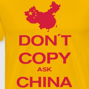 don´t copy ask china T-shirts - Herre premium T-shirt