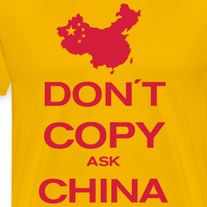 don´t copy ask china T-shirts - Mannen Premium T-shirt