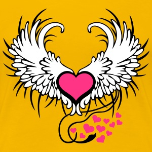 Angel Wings Heart Tee shirts - T-shirt Premium Femme