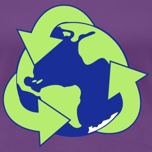Planet Reduce Reuse Recycle T-shirts - Premium-T-shirt dam