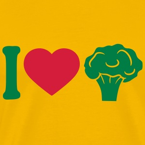 I love Herz broccoli vegetable logo T-Shirts - Men's Premium T-Shirt