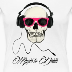 DJ SKULL Music to Death Tee shirts