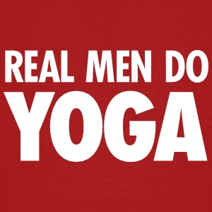 Real Men Do Yoga T-skjorter - Økologisk T-skjorte for menn