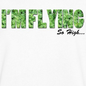 I'm Flying Weed Tee shirts - T-shirt Homme col V
