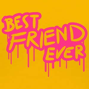 Best Friend Ever Graffiti Pink T-Shirts - Women's Premium T-Shirt