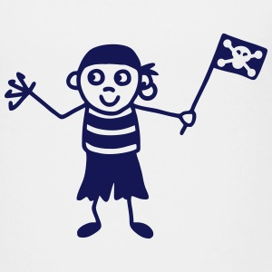 Pirate with flag Shirts - Teenage Premium T-Shirt