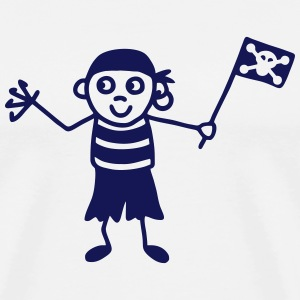 Pirate with flag T-Shirts - Men's Premium T-Shirt