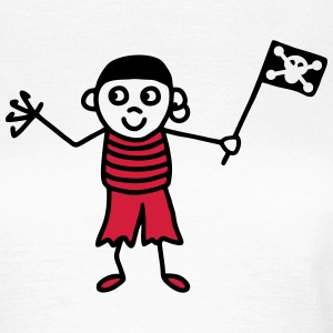Pirate with flag - V2 T-Shirts - Women's T-Shirt