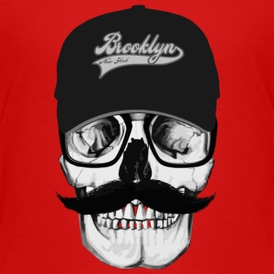 Skull Mustache Brooklyn Shirts - Teenager Premium T-shirt