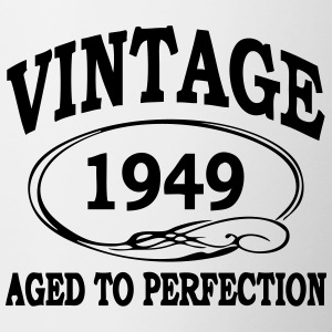 Vintage 1949 Aged To Perfection Bottles & Mugs - Contrasting Mug