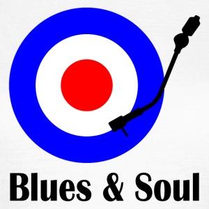blues and soul T-shirts - Dame-T-shirt