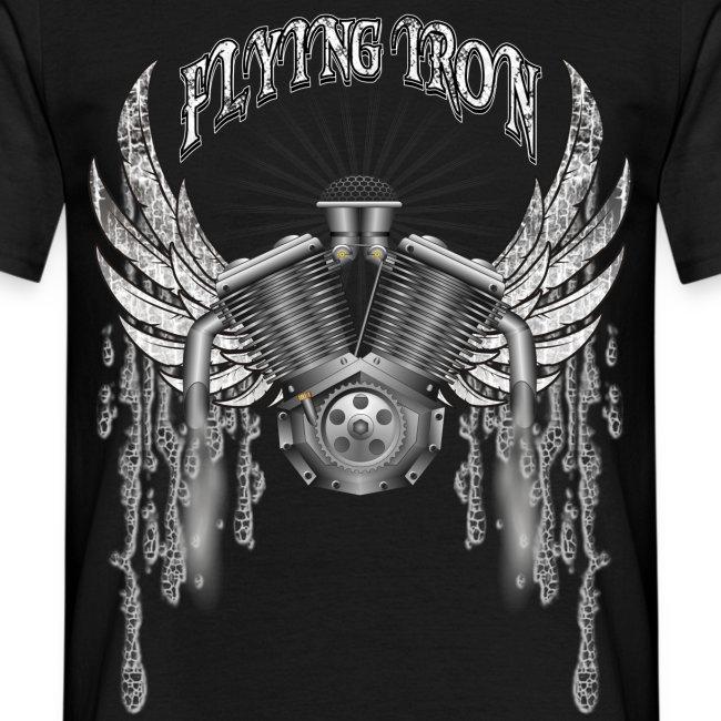 Biker T-shirt - fliegender Motor