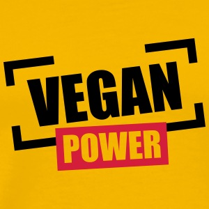 Vegan Power Stempel Logo T-Shirts - Men's Premium T-Shirt