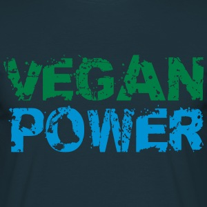 Vegan Power logotyp T-shirts - T-shirt herr