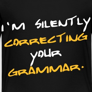 Correcting your grammar. T-Shirts - Kinder Premium T-Shirt