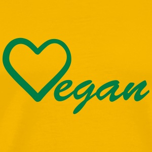 Vegan love heart logo T-Shirts - Men's Premium T-Shirt