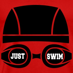 Just swim T-skjorter - Premium T-skjorte for menn