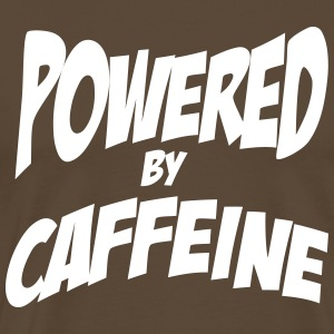 Powered my caffeine T-skjorter - Premium T-skjorte for menn