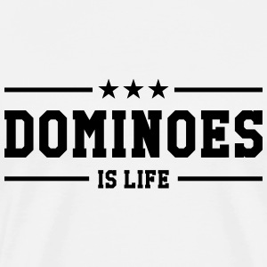 Dominoes is life T-shirts - Mannen Premium T-shirt