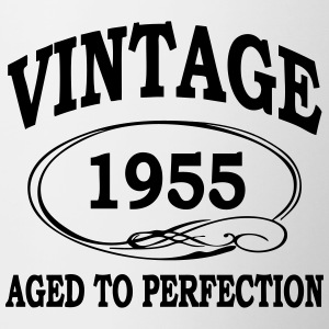 Vintage 1955 Aged To Perfection Bottles & Mugs - Contrasting Mug