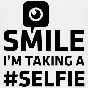 Love taking Selfie photo camera instagram smile T-Shirts - Kinder Premium T-Shirt