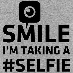 Love taking Selfie photo camera instagram smile Camisetas - Camiseta premium adolescente