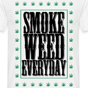 T-shirt smoke weed cadre - T-shirt Homme