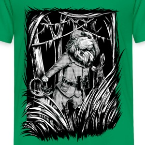 Kelly groen King of the Jungle Shirts - Kinderen Premium T-shirt