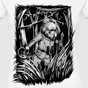 Hvit King of the Jungle T-skjorter - Premium T-skjorte for kvinner