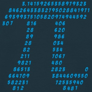 pi wetenschap wiskunde π mathematics T-shirts - Mannen T-shirt