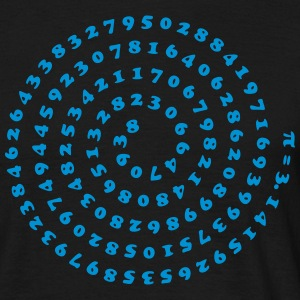 Math Pi π Mathematics spiral irrational number  T-shirts - T-shirt herr