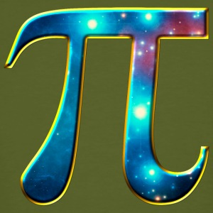 Pi π symbol Math Mathematics universe galaxy Space Tee shirts - T-shirt bio Homme