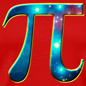 Pi π universe galaxy Space Math Mathematics symbol T-Shirts - Men's Premium T-Shirt