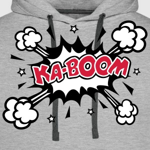 KABOOM, comic speech bubble, cartoon, word balloon Sweat-shirts - Sweat-shirt à capuche Premium pour hommes