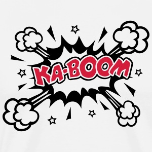 KABOOM Glow in the dark, Comic, Cartoon, 1-2 color - Männer Premium T-Shirt