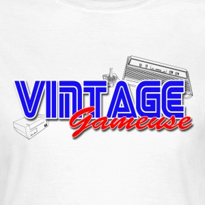 vintage Gameuse Tee shirts - T-shirt Femme