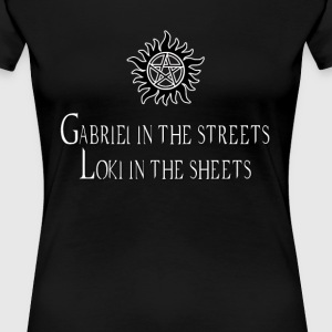 Gabriel in the sheets... - Women's Premium T-Shirt