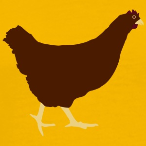 Running chicken hen T-Shirts - Men's Premium T-Shirt